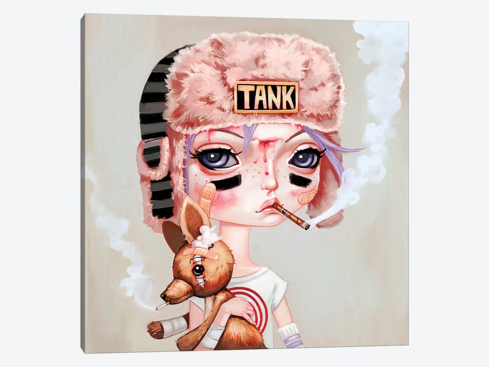 Tank Girl by Melanie Schultz 1-piece Canvas Art