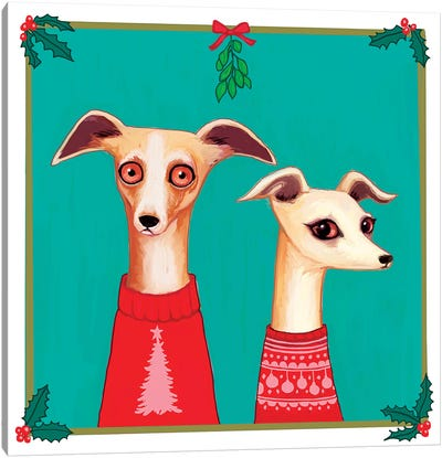 Whippets Canvas Art Print