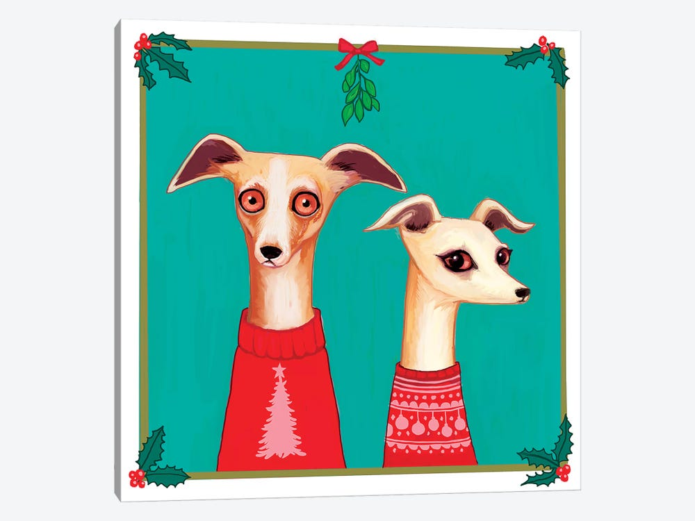 Whippets by Melanie Schultz 1-piece Canvas Print