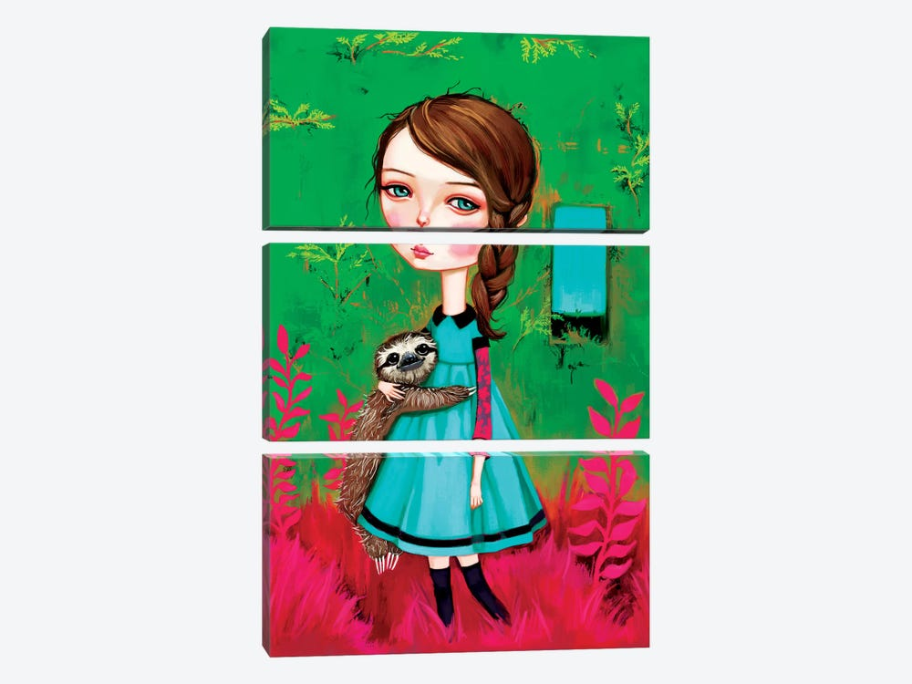 A Walk In The Garden by Melanie Schultz 3-piece Canvas Print