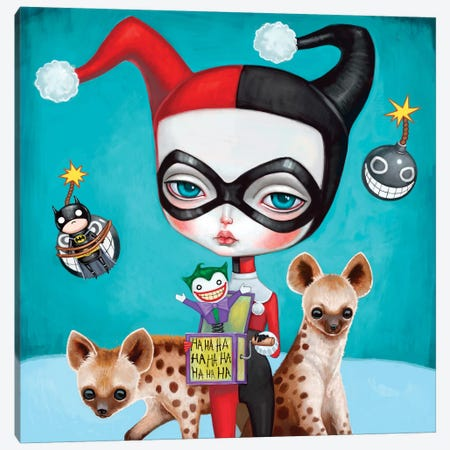Harley Quinn Canvas Print #MSC21} by Melanie Schultz Canvas Artwork
