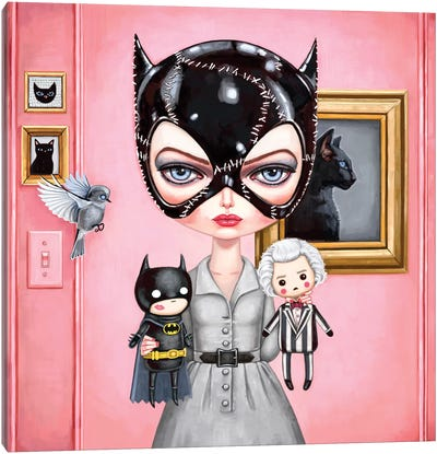 Catwoman Canvas Art Print