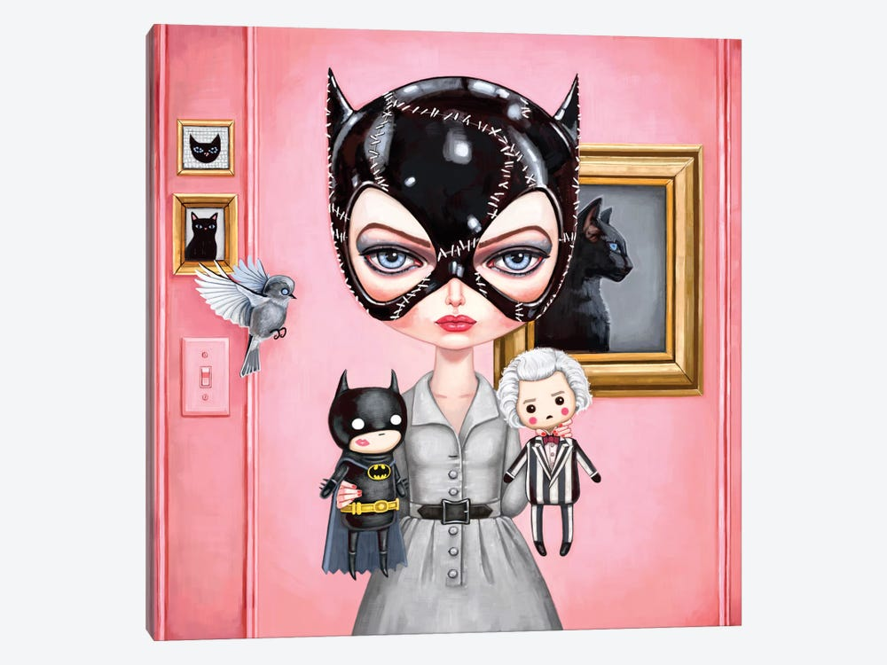 Catwoman by Melanie Schultz 1-piece Canvas Art
