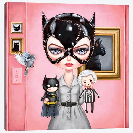 Catwoman Canvas Print #MSC23} by Melanie Schultz Canvas Art