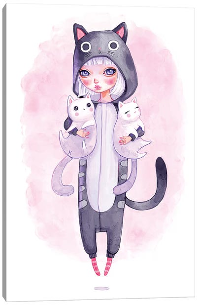 Kigurumi Cuddles Canvas Art Print