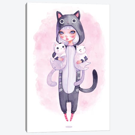 Kigurumi Cuddles Canvas Print #MSC28} by Melanie Schultz Canvas Art
