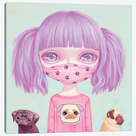 Pug Life Canvas Print #MSC29} by Melanie Schultz Canvas Artwork