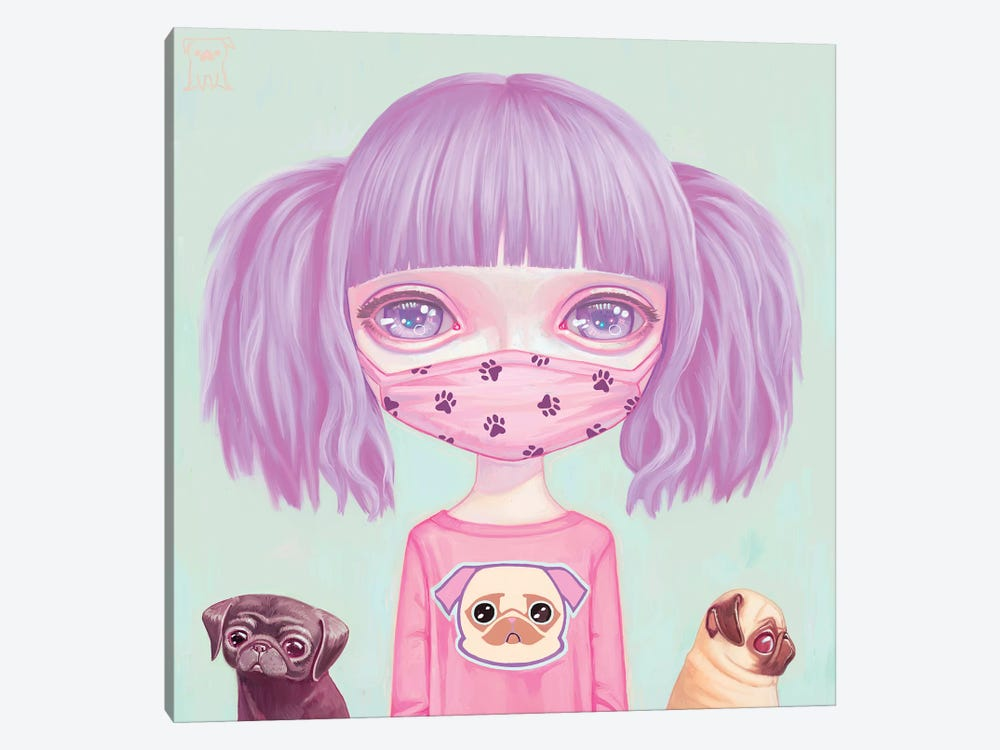 Pug Life by Melanie Schultz 1-piece Canvas Wall Art