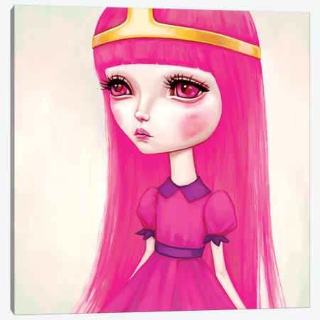 Adventure Time - Princess Bubblegum Canvas Print #MSC2} by Melanie Schultz Canvas Wall Art