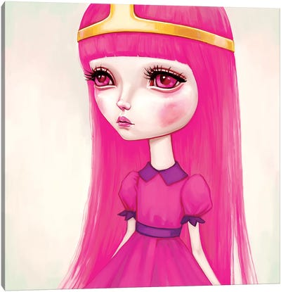 Adventure Time - Princess Bubblegum Canvas Print #MSC2