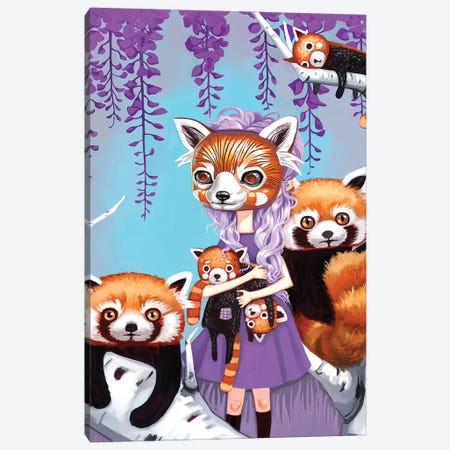 Red Pandas Canvas Print #MSC30} by Melanie Schultz Canvas Art Print
