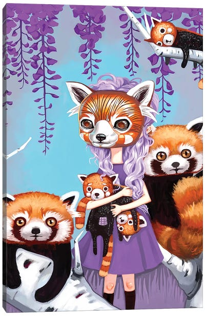 Red Pandas Canvas Art Print