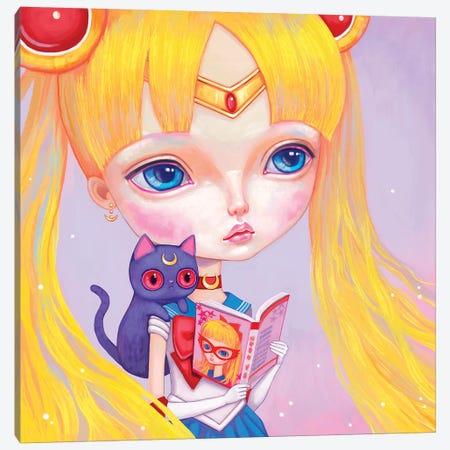 Sailor Moon Canvas Print #MSC31} by Melanie Schultz Art Print