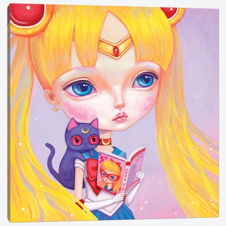 Sailor Moon Canvas Print #MSC31} by Melanie Schultz Art Print