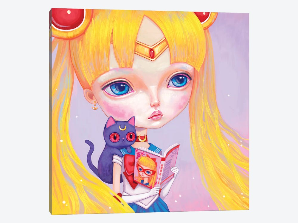 Sailor Moon by Melanie Schultz 1-piece Art Print