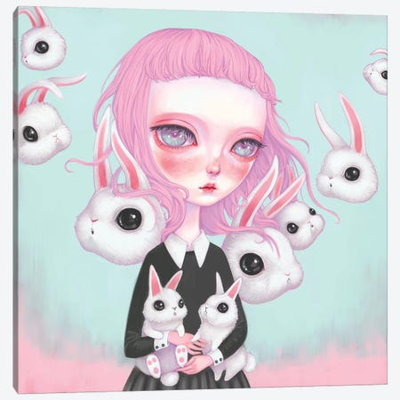Bunny Girl Canvas Print #MSC34} by Melanie Schultz Canvas Art