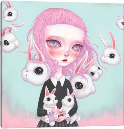 Bunny Girl Canvas Art Print
