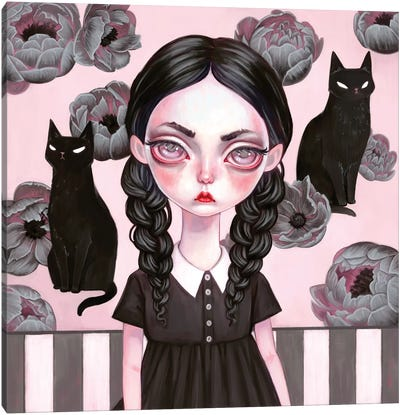 Wednesday Addams Canvas Art Print