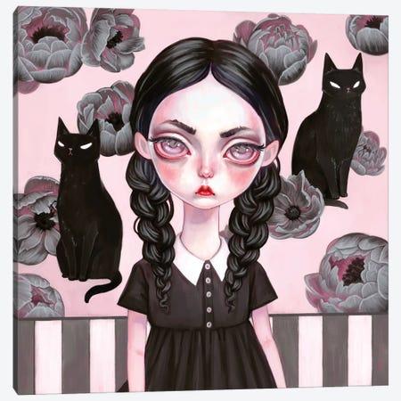 Wednesday Addams Canvas Print #MSC35} by Melanie Schultz Canvas Art