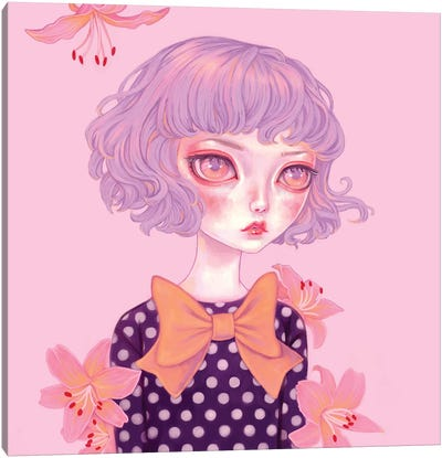 Lilac Hair Canvas Art Print