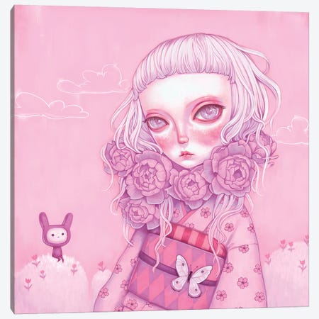 Pink Planet Canvas Print #MSC40} by Melanie Schultz Canvas Artwork