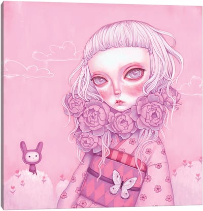 Pink Planet Canvas Art Print