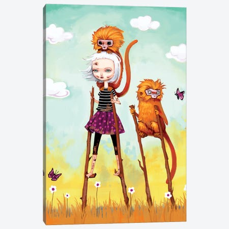 Girl On An Adventure Canvas Print #MSC7} by Melanie Schultz Art Print