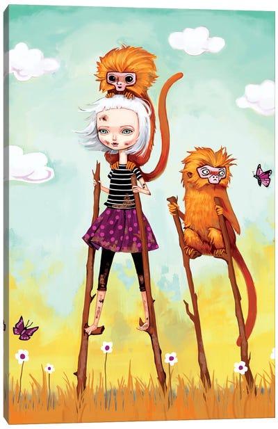 Girl On An Adventure Canvas Art Print