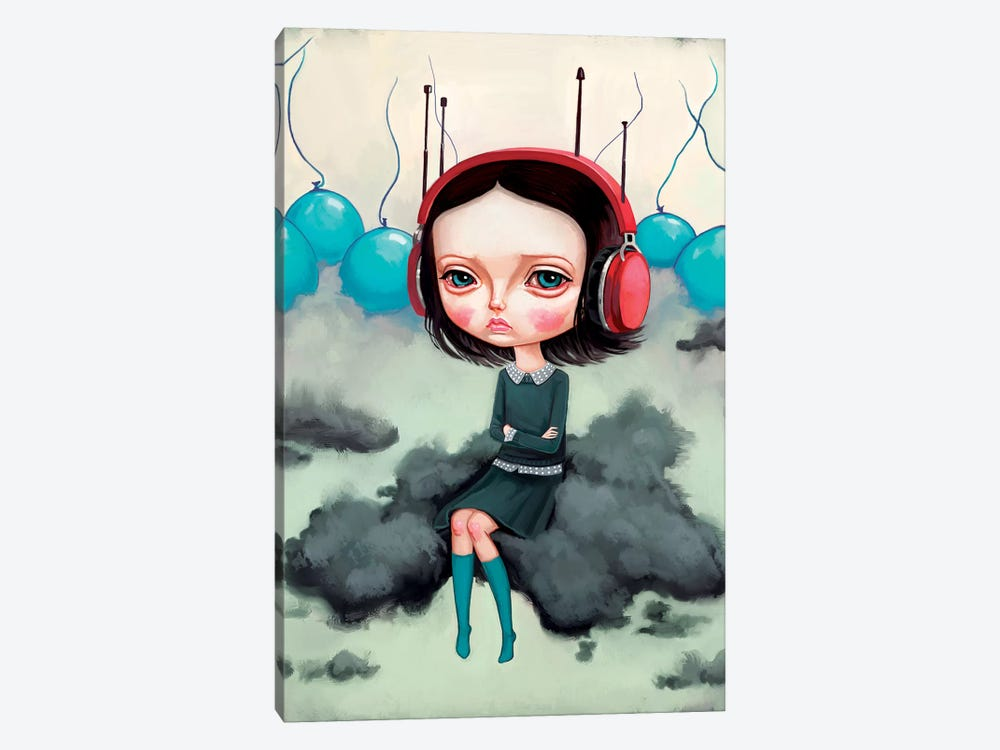 Girl Pouting On A Cloud by Melanie Schultz 1-piece Canvas Art