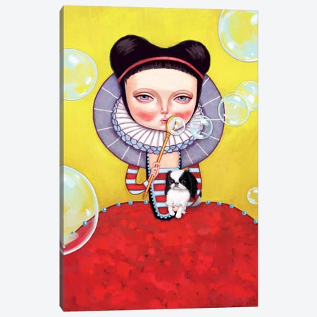 Girl Who Blew Bubbles Canvas Print #MSC9} by Melanie Schultz Canvas Art