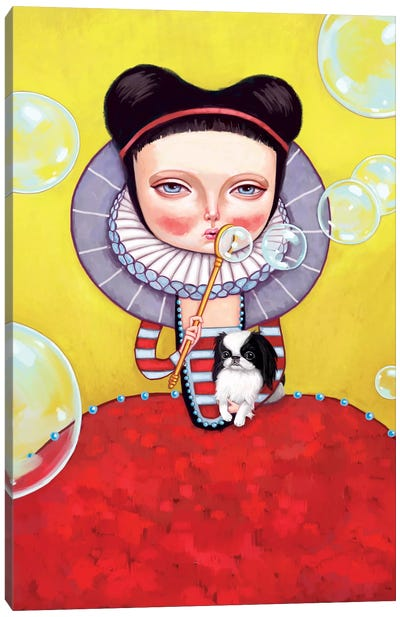 Girl Who Blew Bubbles Canvas Art Print