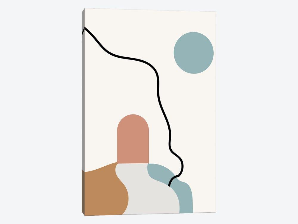 Boho Terracota Road by Mambo Art Studio 1-piece Canvas Art Print
