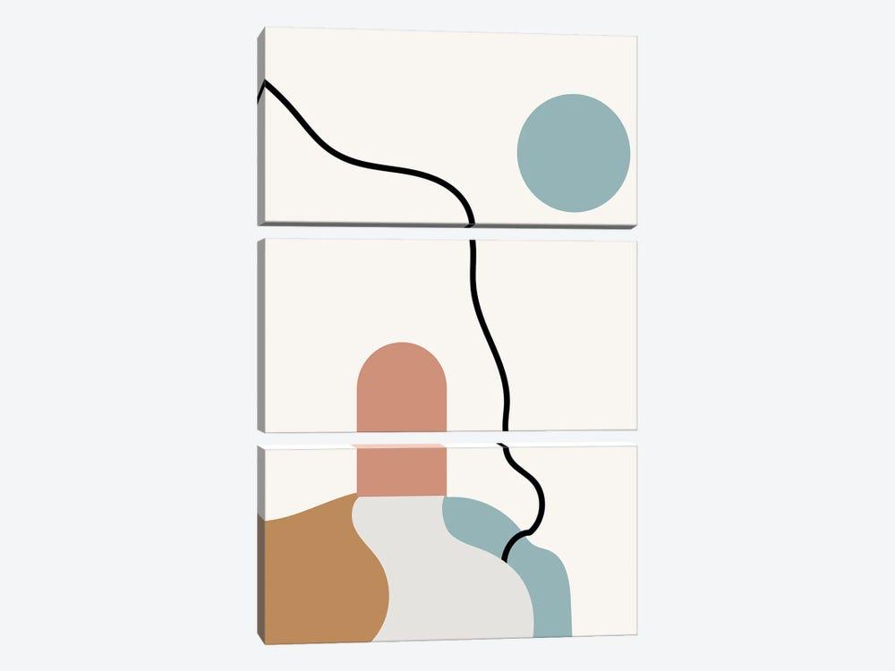 Boho Terracota Road by Mambo Art Studio 3-piece Canvas Art Print