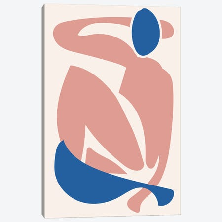 Deconstructed Blue and Pink Figure Canvas Print #MSD102} by Mambo Art Studio Art Print