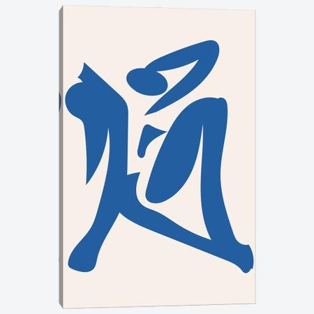 Deconstructed Blue Figure 4 Canvas Print #MSD103} by Mambo Art Studio Art Print