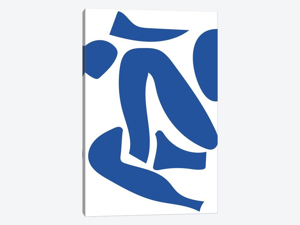 Deconstructed Blue Figure Detail by Mambo Art Studio 1-piece Art Print