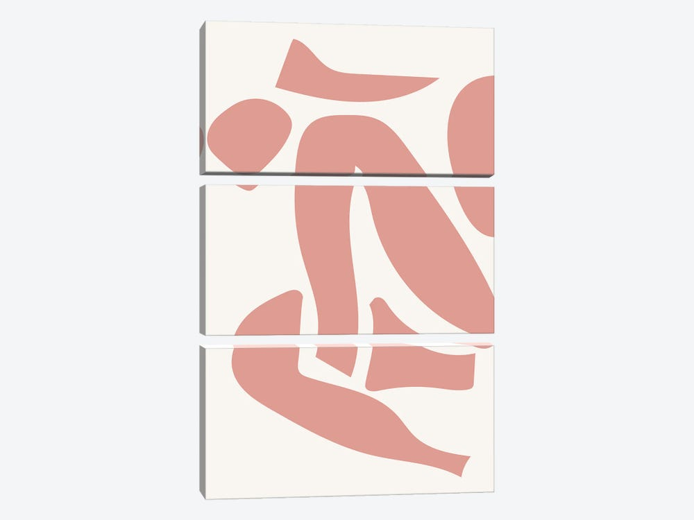 Deconstructed Body Detail Pink by Mambo Art Studio 3-piece Canvas Artwork