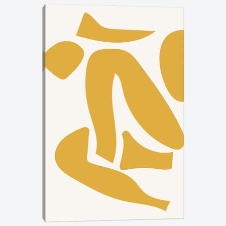 Deconstructed Body Detail Yellow Canvas Print #MSD106} by Mambo Art Studio Canvas Wall Art
