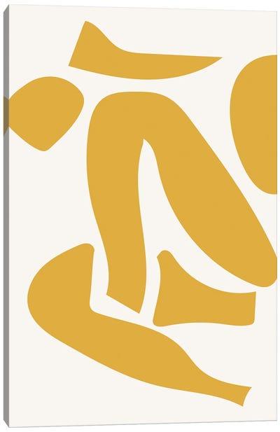 Deconstructed Body Detail Yellow Canvas Art Print
