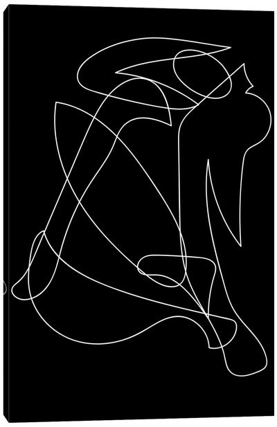Deconstructed Lines Figure Canvas Art Print