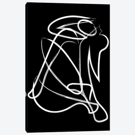 Matisse Deconstructed Brush Black Canvas Print #MSD111} by Mambo Art Studio Canvas Artwork