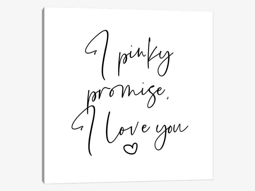 I Pinky Promise I Love You by Mambo Art Studio 1-piece Canvas Art Print