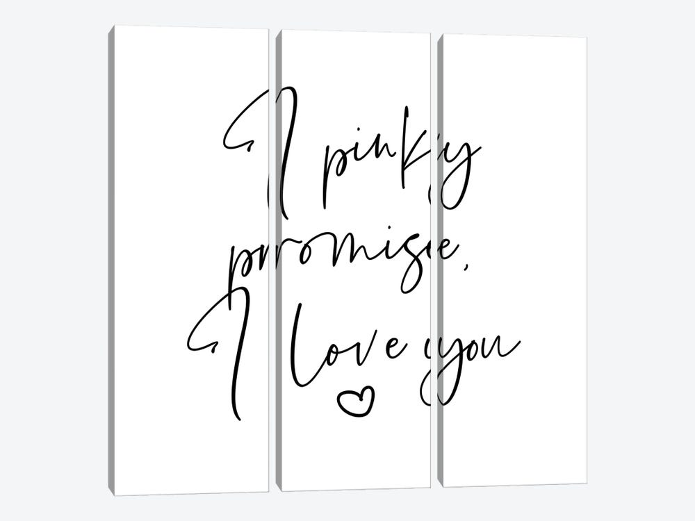 I Pinky Promise I Love You by Mambo Art Studio 3-piece Canvas Print