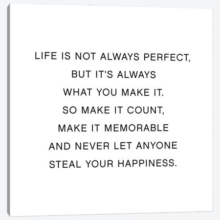 Life Is Not Always Perfect Canvas Print #MSD117} by Mambo Art Studio Art Print