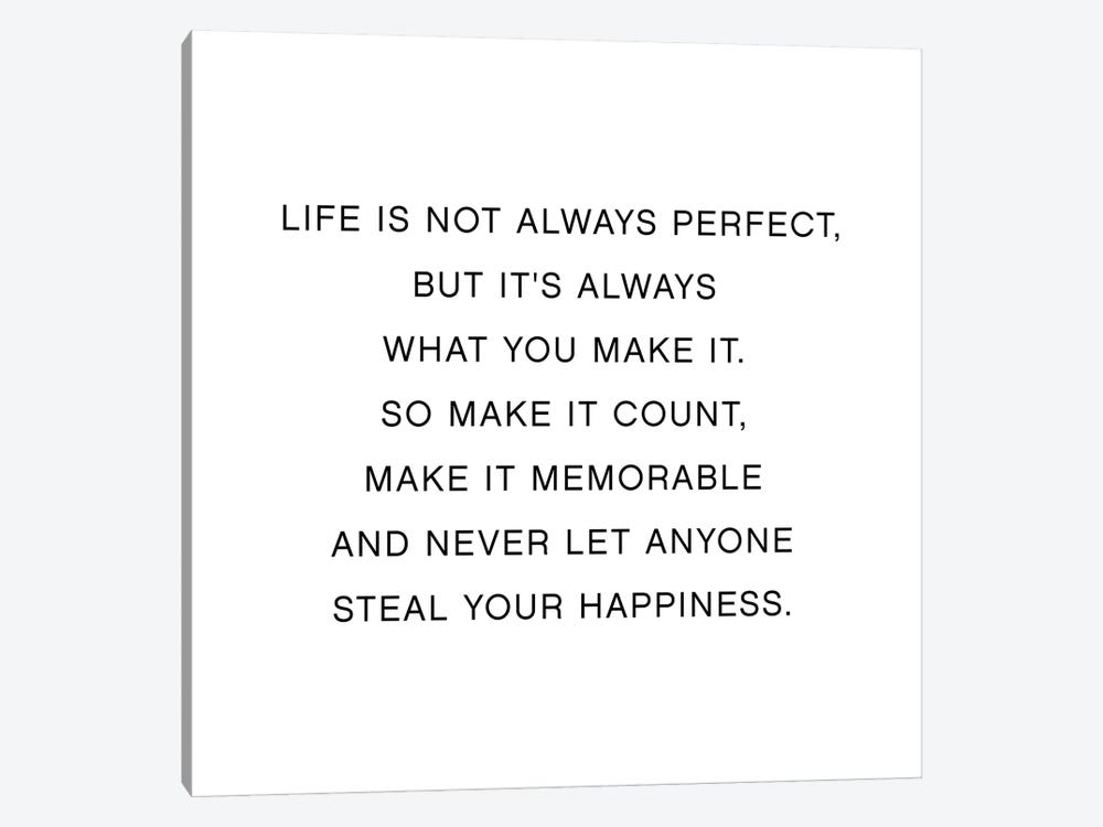 Life Is Not Always Perfect by Mambo Art Studio 1-piece Art Print