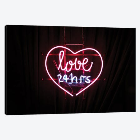 Love Neon Sign Canvas Print #MSD118} by Mambo Art Studio Canvas Artwork
