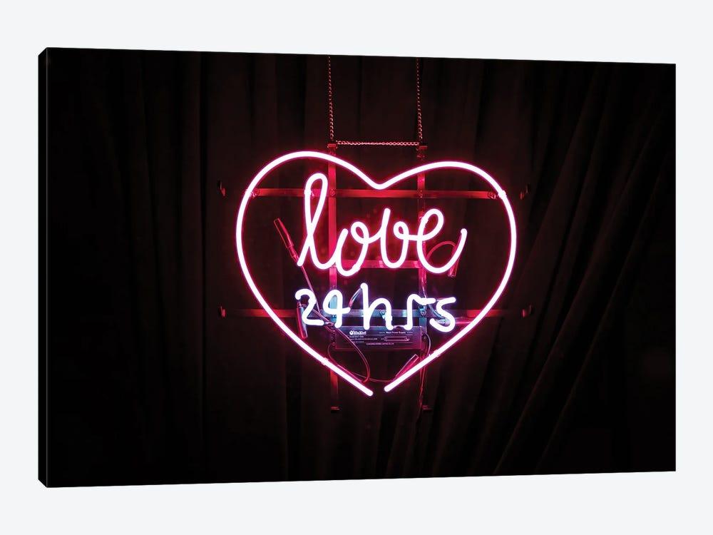 Love Neon Sign by Mambo Art Studio 1-piece Canvas Artwork