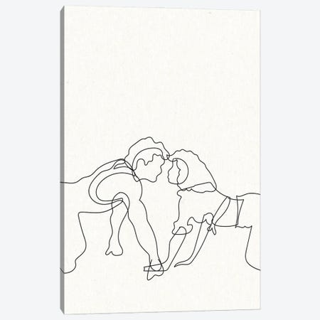 Dirty Dancing Outline Canvas Print #MSD11} by Mambo Art Studio Canvas Artwork