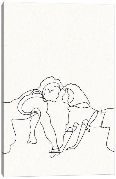 Dirty Dancing Outline Canvas Art Print