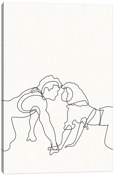 Dirty Dancing Outline Canvas Art Print